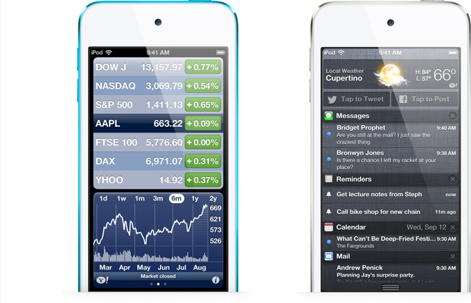 Apple iPod Touch 5th Generation - Notification Center