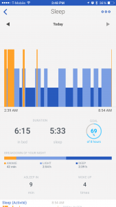 Withings Activite Pop Review - Healthmate App Sleep Breakdown - Analie Cruz