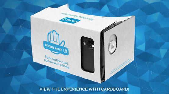 att - it can wait vr driving simulation app - google cardboard- cruz