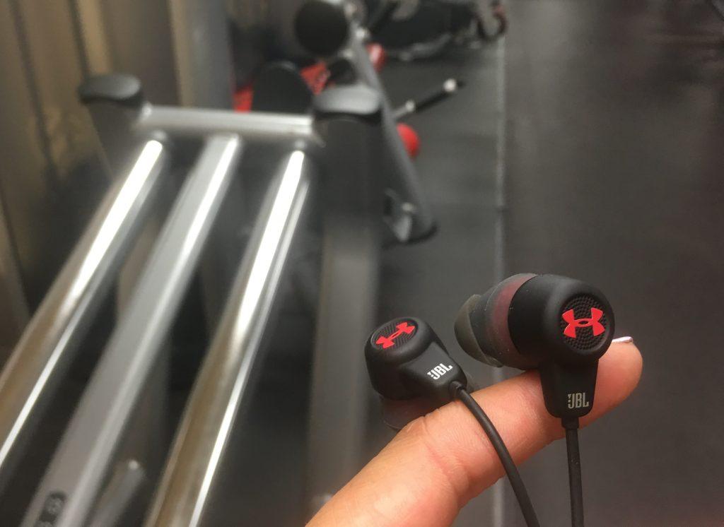 UA Headphones Wireless JBL Under Armour headphones Review - At Gym - Analie Cruz