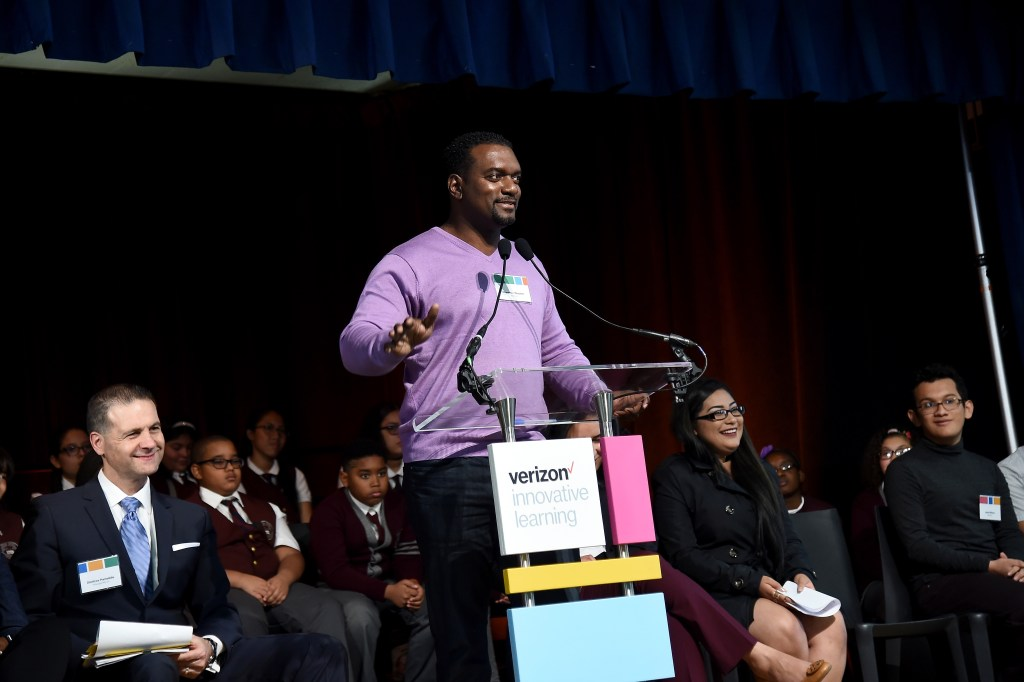 NEW YORK, NY - OCTOBER 29: Serial Tech Entrepreneur Clarence Wooten speaks during Verizon Innovative Learning Event at P.S. 171 Patrick Henry School on October 29, 2016 in New York City. (Photo by Ilya S. Savenok/Getty Images for Verizon)