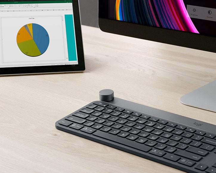 Logitech Craft Wireless Keyboard - Crown Knob