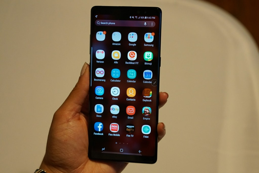 Samsung Galaxy Note8 Review - app drawer