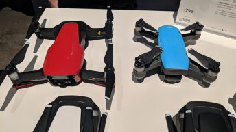 DJI Mavic Air - Drone - Next to DJI Spark (Blue) -