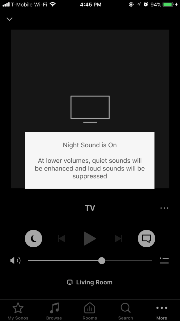 Sonos App - Playbase - Night Sound