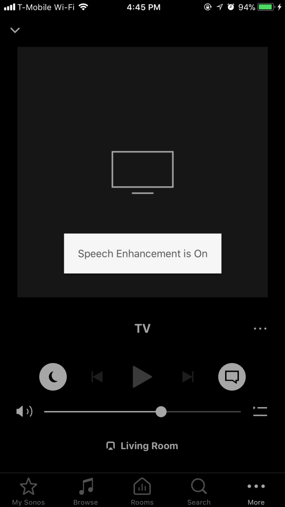 Sonos App - Playbase - Speech Enhancement