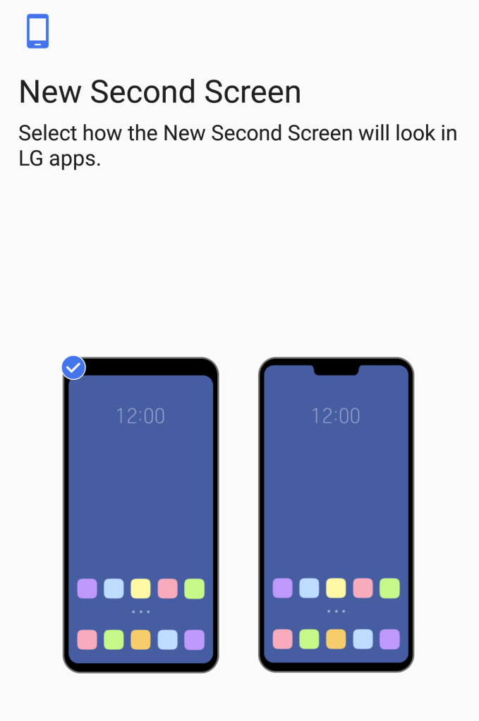 LG G7 - New Second Screen Option (Notch)