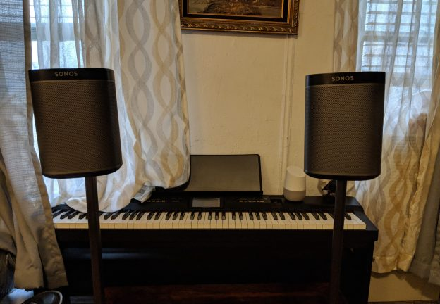 Sanus Adjustable Height Wireless Speaker Stands for Sonos One Play 1 - Review