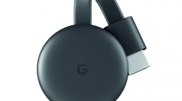 Black Google Chromecast 2018