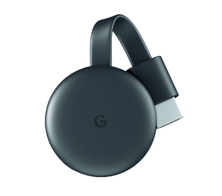 Black Google Chromecast 2018
