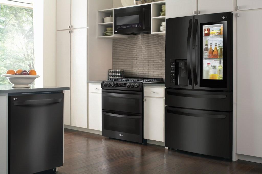 LG Matte Black Kitchen Lifestyle
