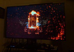 Playing Tetris Effect - Hisense 65H8E 4K TV Review