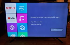 Setup complete - Hisense H8E 4K TV Review