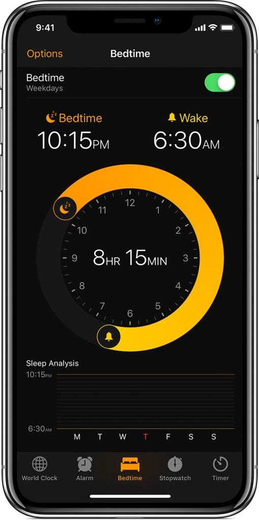 Bedtime app for iOS