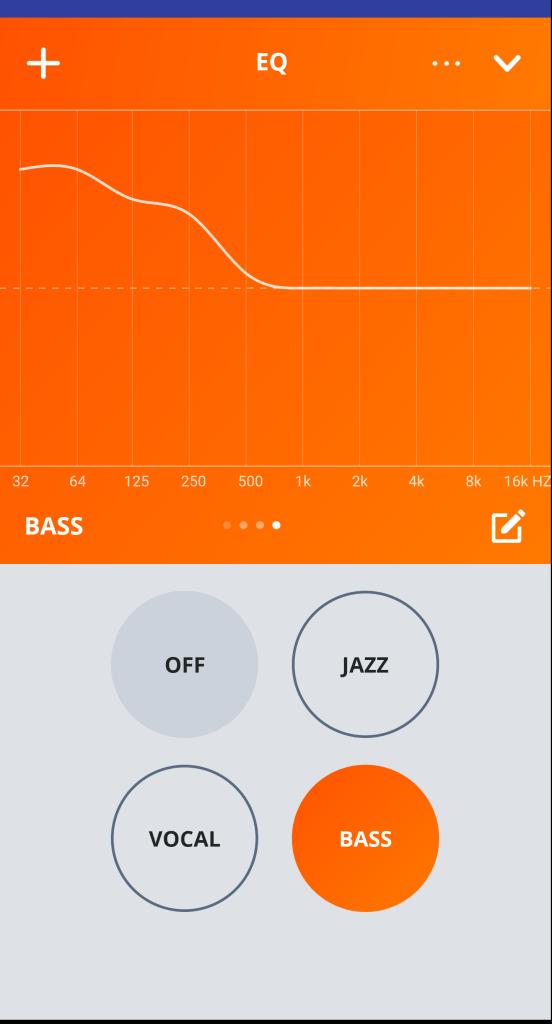 EQ Settings - JBL My JBL Headphones App