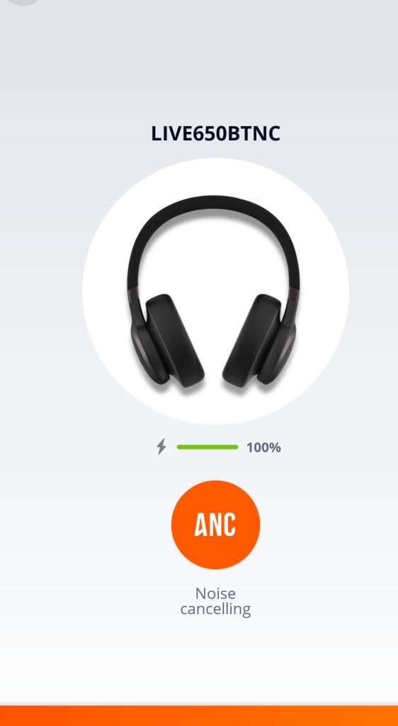 Battery - EQ - JBL My Headphones App