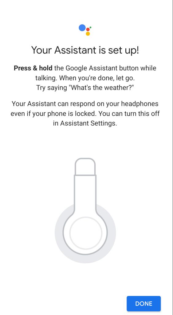 Google Assistant - JBL My Headphones App