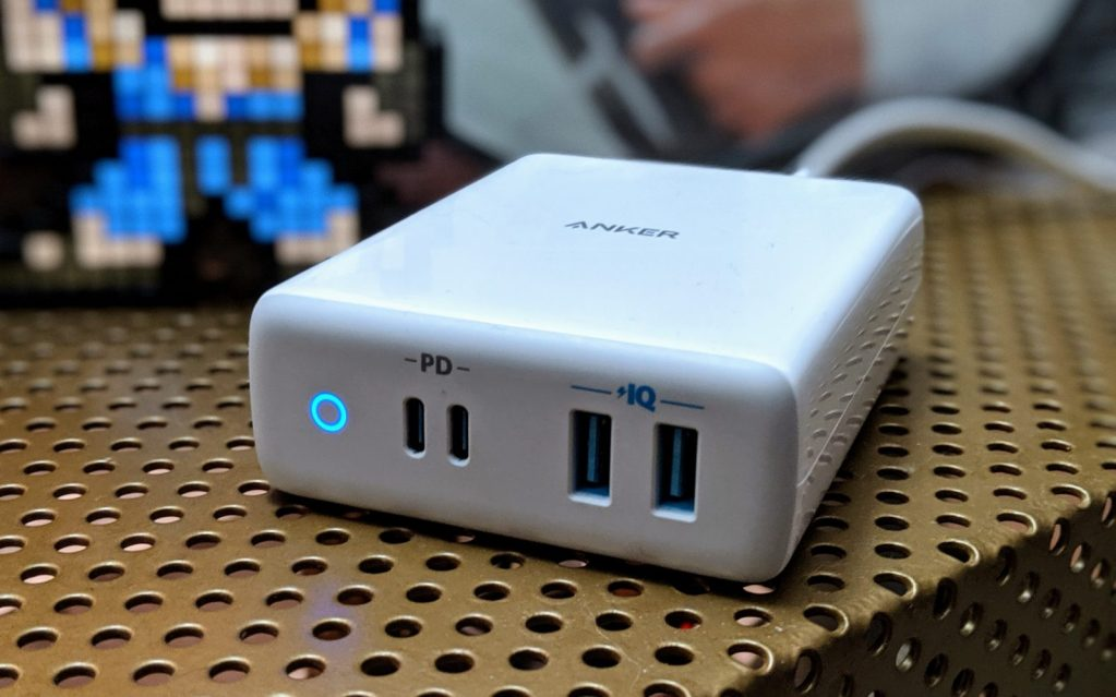White Anker Atom PD 4 Charging station with four ports