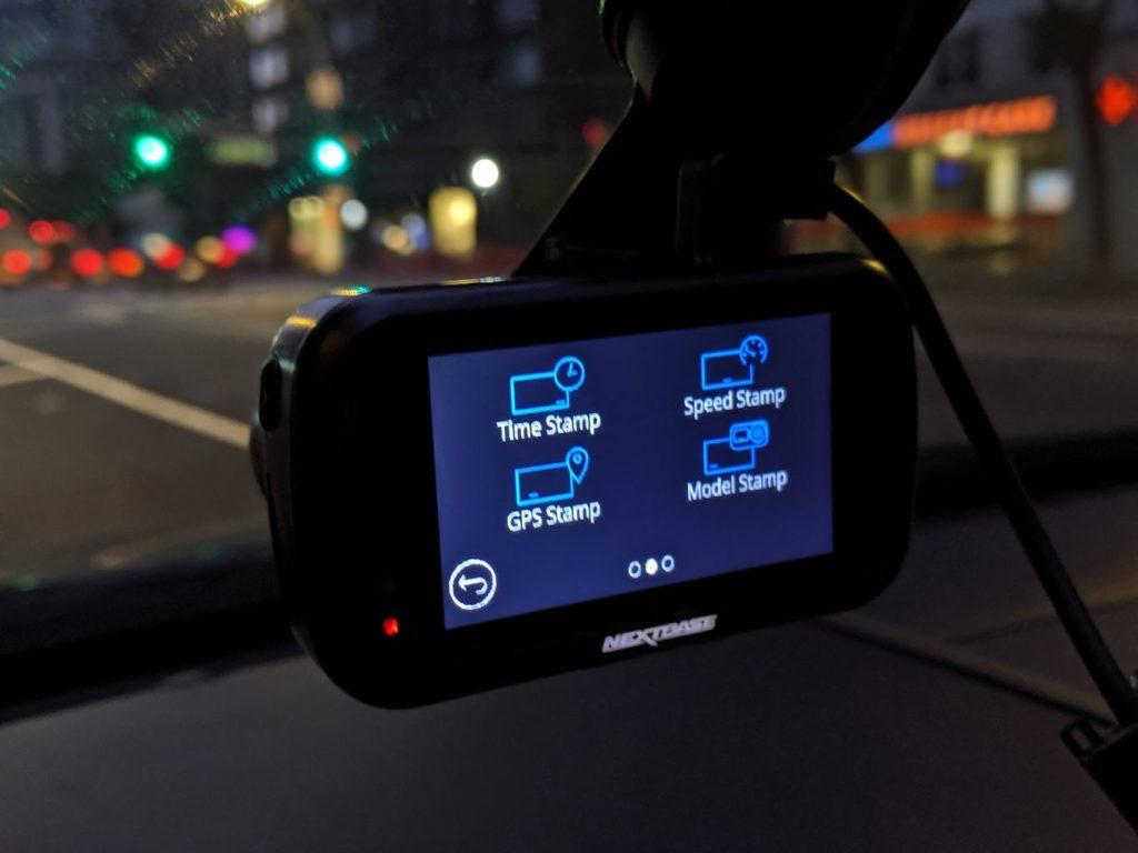 screen of nextbase 422GW dash camera